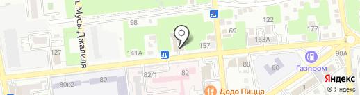 Абажур на карте Астрахани