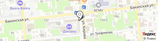 Институт социальных и гуманитарных знаний на карте Астрахани