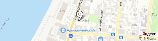 Обоиград на карте Астрахани