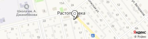 Фрегат на карте Растопуловки