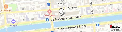 Служба жилищного надзора Астраханской области на карте Астрахани