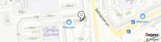 Пятерочка на карте Астрахани