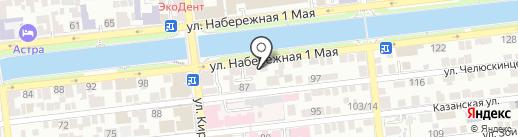 Первый Астраханский монетный двор на карте Астрахани