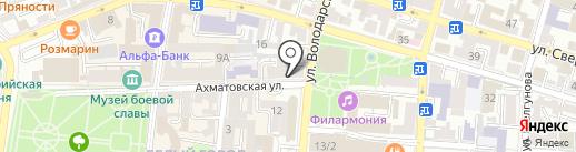Национальная почтовая служба на карте Астрахани