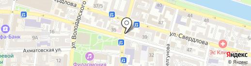 Клиника доктора Алтухова на карте Астрахани