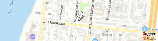Ла Феличе на карте Астрахани