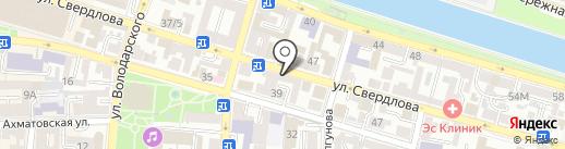 ТриО на карте Астрахани