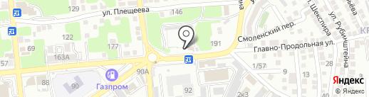 Автобаза Администрации города Астрахани, МБУ на карте Астрахани