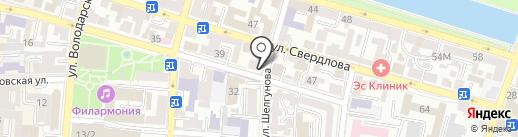 Винтаж на карте Астрахани