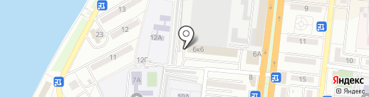 Автостоянка на карте Астрахани