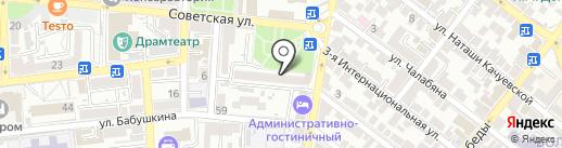 Максим на карте Астрахани