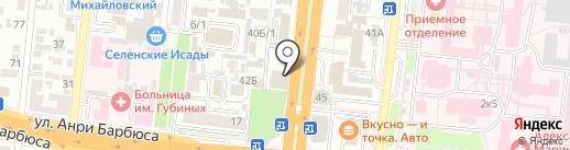 Ломбард-Центральный на карте Астрахани
