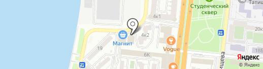 Конвертово на карте Астрахани