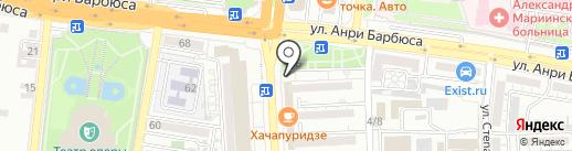 Эвелина на карте Астрахани