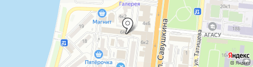 PR+ на карте Астрахани