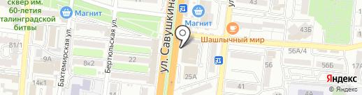 Орто стиль на карте Астрахани