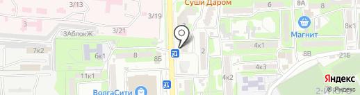 Мистер Шкафф на карте Астрахани
