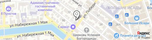 Антошка на карте Астрахани