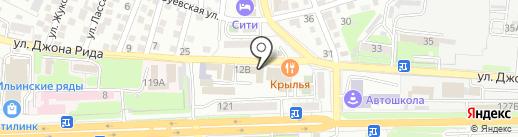 Таксолет на карте Астрахани