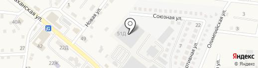 Астраханская центральная дистрибьюторская компания на карте Осыпного Бугра