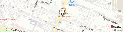 Продовольственный магазин на карте Астрахани