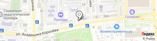Эконом-стоматология на карте Астрахани