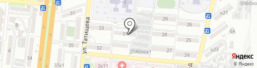 Кварт Отель на карте Астрахани