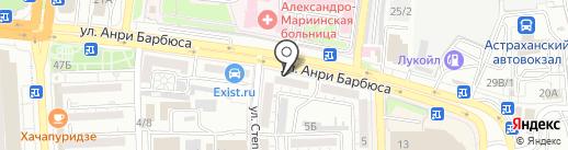 Центр-Деталь на карте Астрахани