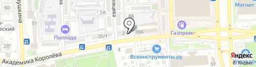Карамелька на карте Астрахани