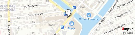 Лариса на карте Астрахани