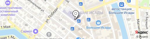 Ратник на карте Астрахани