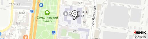 Астраханский государственный университет, ФГУ на карте Астрахани