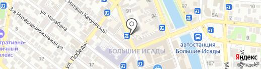 Серебряный Шарм на карте Астрахани