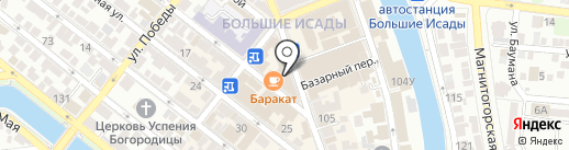 Золотой стиль на карте Астрахани
