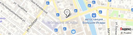 Золотая Роза на карте Астрахани