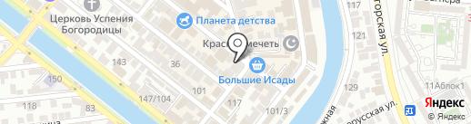 Lady на карте Астрахани