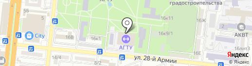 Спортивный комплекс на карте Астрахани