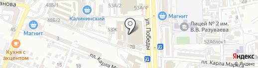 Farman на карте Астрахани
