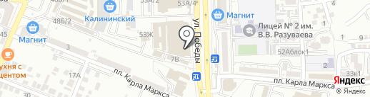 Домино на карте Астрахани