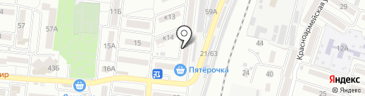 Тюльпан на карте Астрахани