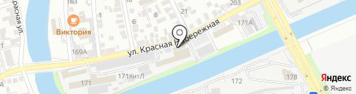 Сетка на карте Астрахани
