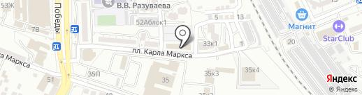 Краски Жизни на карте Астрахани