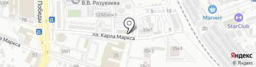 Иванченко на карте Астрахани