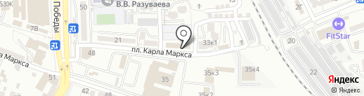 Реджувитал на карте Астрахани