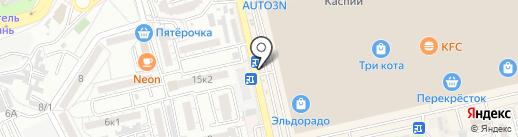 Цветочная мастерская на карте Астрахани