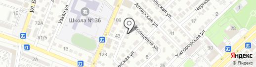 Тарарин А.Н. на карте Астрахани