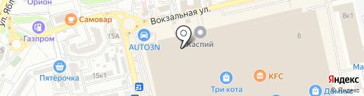 Сумочка на карте Астрахани