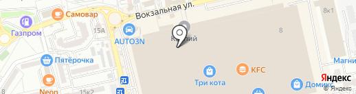 Зеленое яблоко на карте Астрахани