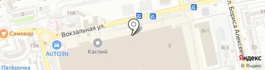 Фактор на карте Астрахани