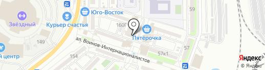Магазин канцелярских товаров на карте Астрахани